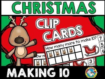 #CHRISTMAS #MATH #TASK #CARDS: #MAKING #TEN ★ #REINDEER ★
