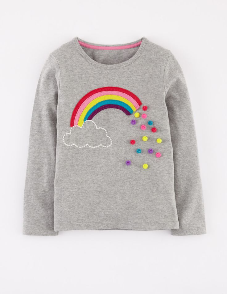 Dotty Appliqué T-shirt 31801 Graphic T-Shirts at Bodenlove the Pom poms