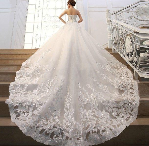 wedding dresses with a train tail - Pesquisa do Google