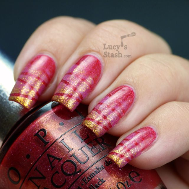 sponging & tape manicure with OPI and SpaRitual