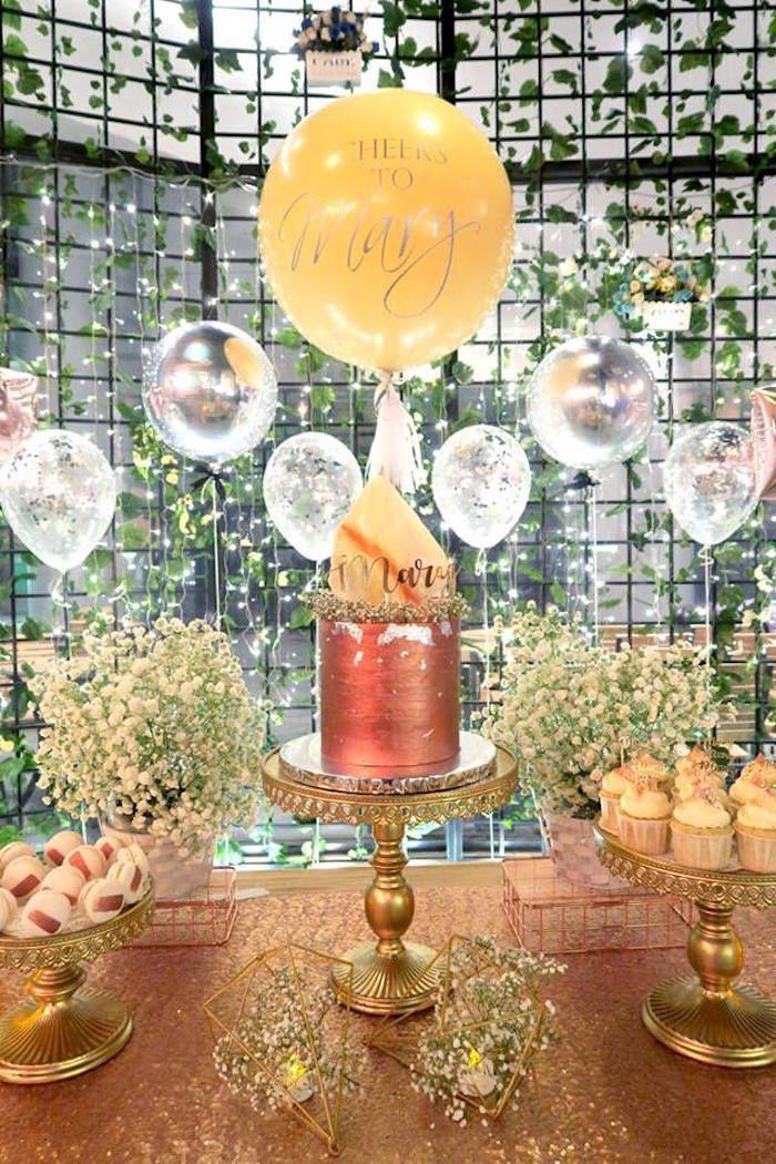 Elegant Glam Birthday Party Birthday party decorations