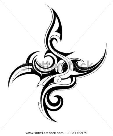 Tribal art tattoo - stock vector