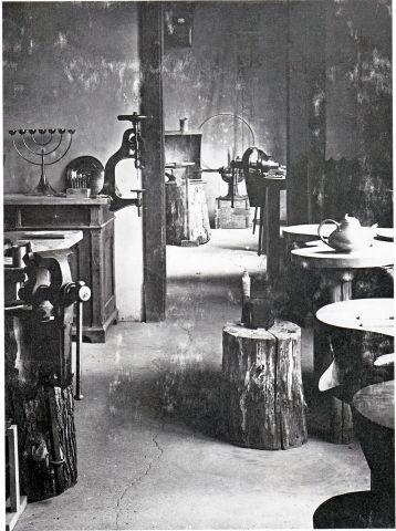 Metal Workshop rooms at the Bauhaus in Weimar, summer of 1923