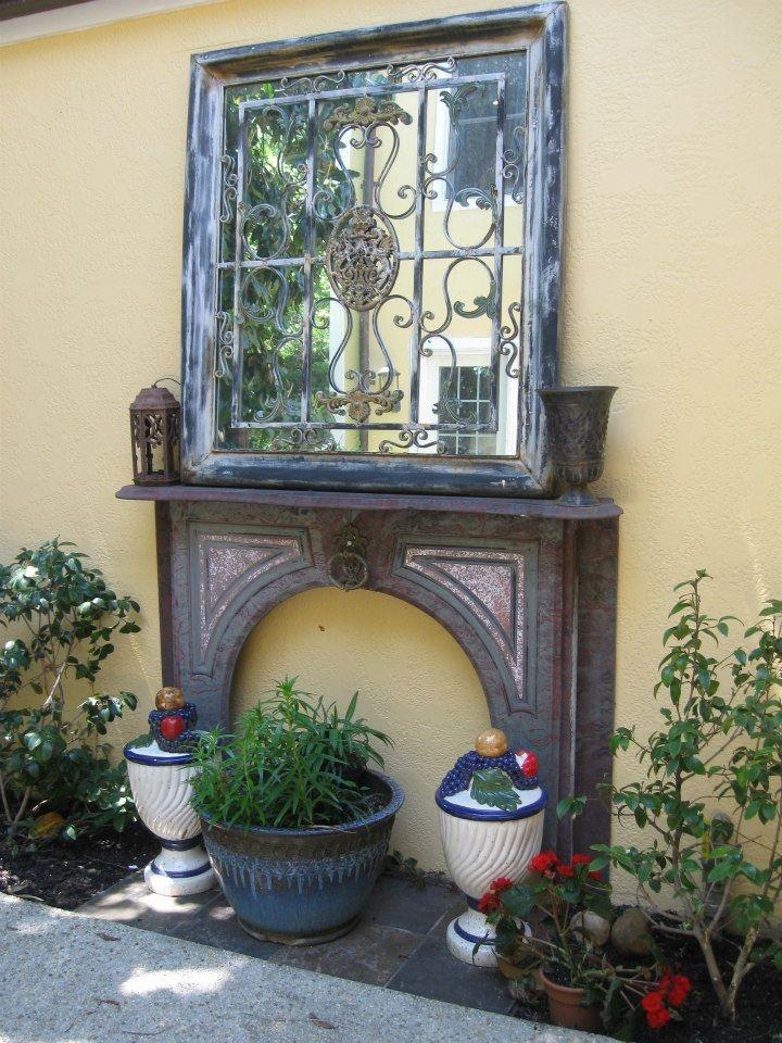 Mirror in Georgetown DC garden 100 best