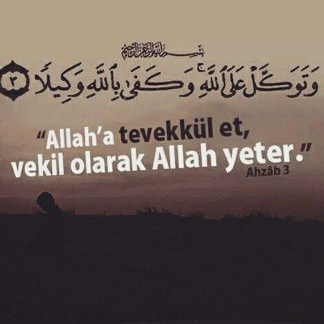 """Rahman ve Rahim olan Allah'ın Adıyla """"Allah'a tevekkül et, vekil olarak Allah yeter."""" [Ahzâb Suresi 3.Ayet Meali] #Allah #vekil #tevekkül #yeter #ayet #azhabsuresi #ayetler #amenna #islam #müslüman #hayırlıcumalar #türkiye #istanbul #ilmisuffa"""