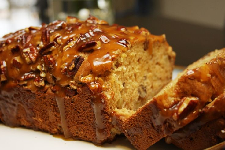 Ingredients:  1 cup sour cream  1 cup brown sugar  2 eggs  2 tsp vanilla  2 cups flour  2 tsp baking powder  1/2 tsp baking soda  1/2 tsp salt  1 1/2 cups Granny Smith apples, peeled and finely chopped  1 cup nuts (walnut or pecan or
