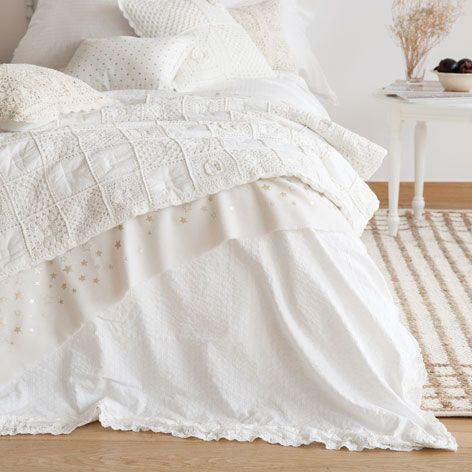dredon et housse de coussin coton crochet dredons lit zara home france id e d co. Black Bedroom Furniture Sets. Home Design Ideas