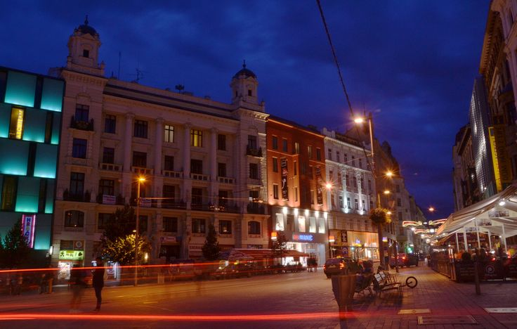 Brno at night.