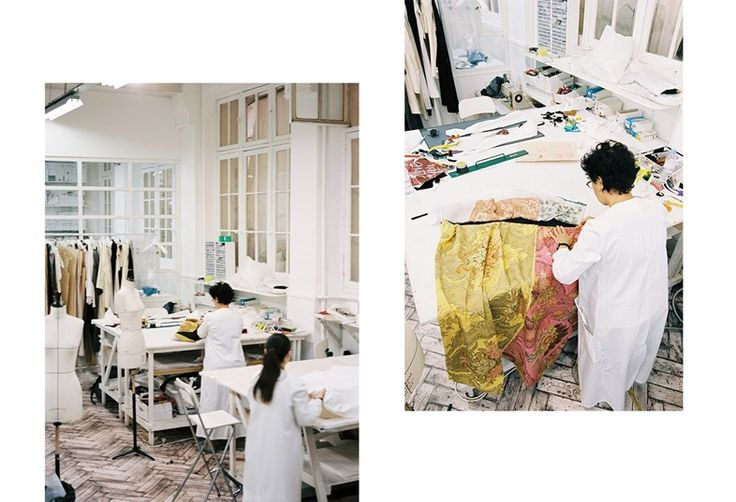 AnOther Magazine: An exclusive Insiders look at the Maison Martin Margiela atelier during couture, with exclusive photographic collages by HART + LËSHKINA.