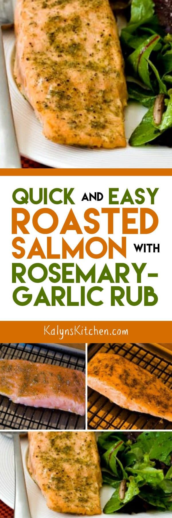 Quick and Easy Roasted Salmon with Rosemary-Garlic Rub