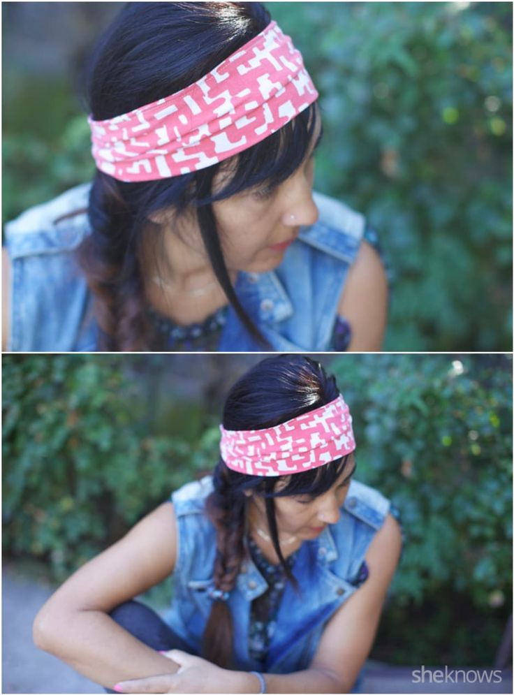 How to repurpose T-shirts into pretty hipster headbands