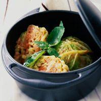 Découvrez la recette Chou farci truffé sur cuisineactuelle.fr.