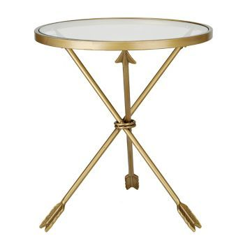 Gold Round Arrow Table   Kirklands