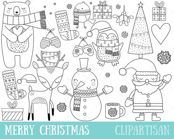 Christmas Scarf Coloring Pages