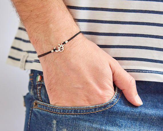 Mens Bracelet  Mens Cord Bracelet  Mens Yoga Bracelet  Mens