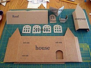 Tutorial For Making Larger Glitter Houses