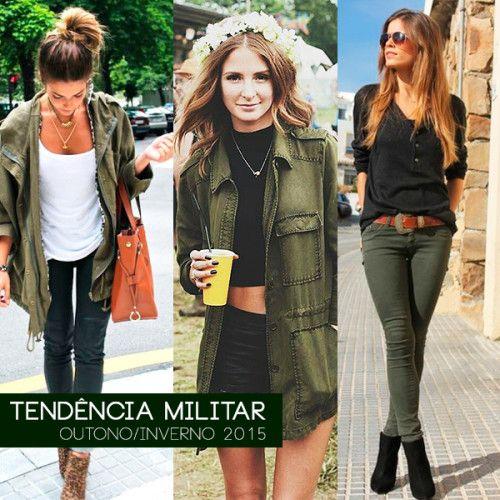Verde Musgo  e Verde-Oliva são as cores da tendência Militar