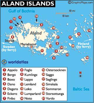 Aland Islands Map