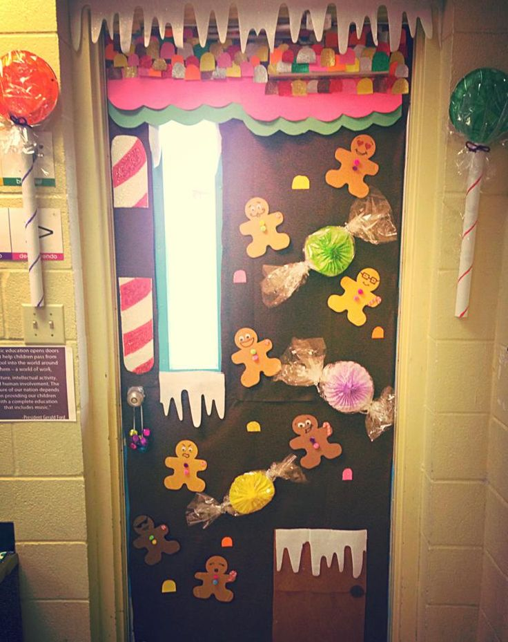 Music Classroom Door Decorations ~ Christmas door decorating contest gingerbread house