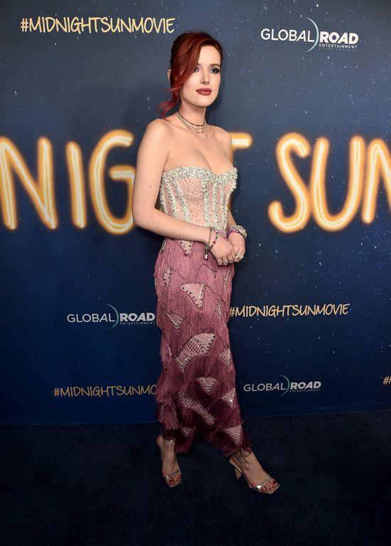 "Bella Thorne and Patrick Schwarzenegger at the ""Midnight Sun"" World Premiere | Tom + Lorenzo"