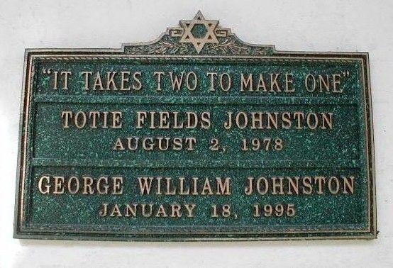 Totie Fields - American Comedienne. MOUNT SINAI MEMORIAL PARK, LOS ANGELES, CALIFORNIA