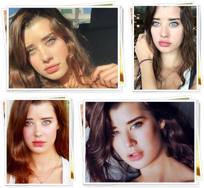 Sarah McDaniel, model cantik dengan warna bola mata berbeda | Photo: Copyright berbagai sumber