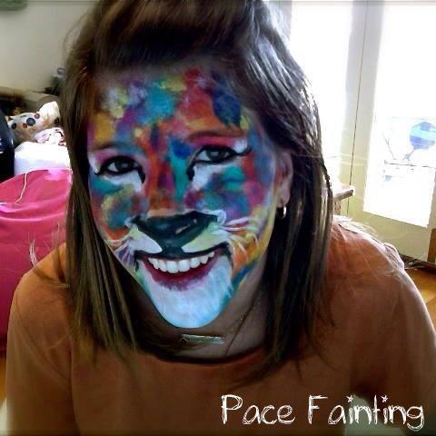 Splatter paint lion! www.pacefainting.com