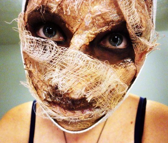 mummy makeup.. reminds me of silent hill. creepy.