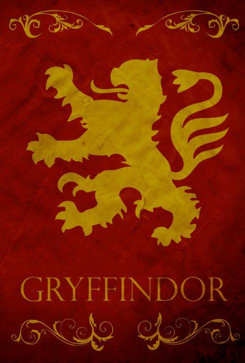Gryffindor House, Harry Potter Series ~ Illustration by Harshness #harrypotterminimal #harrypotterfanart