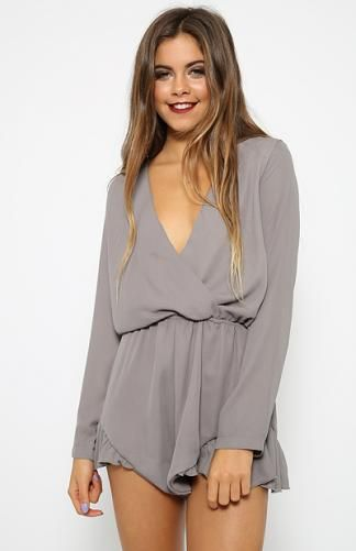Velocity Playsuit - Grey | Back In Stock | Clothes | Peppermayo