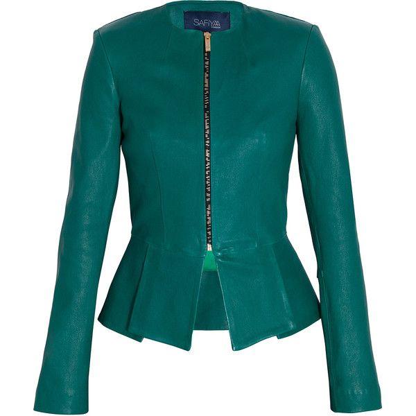 SAFIYAA Leather Jacket ($3,320) ❤ liked on Polyvore
