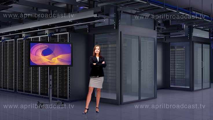 One of the prebuilt green screen background virtual studio set designed by aprilbroadcast.tv in Tricaster format