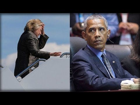 URGENT: OBAMA JUST CAUGHT DOING SOMETHING SICK TO HIDE HILLARY'S HEALTH! - YouTube
