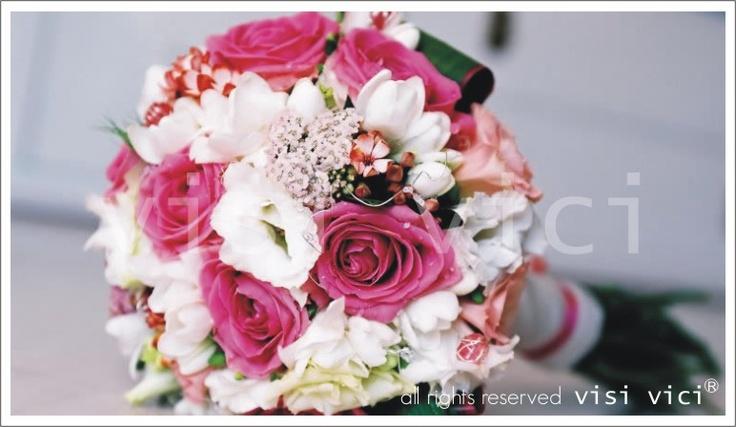 Wedding Bouquet  | Pink | White