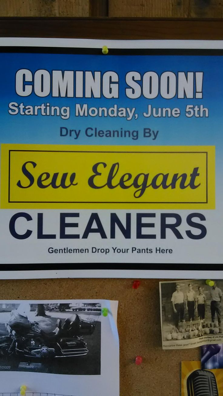 This sign found at a local laundromat telling gents to drop their pants