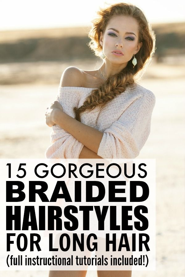 If you have long hair and love to try out different updos to keep your locks out of your face, you will LOVE this collection of 15 glamorous braided hairstyles for long hair. They make the perfect running late hairstyles for days when you accidentally turn your alarm off and don't have time to wash your hair, and I especially love the workout hairstyles in tutorial #5! Full instructional tutorials included!