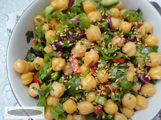 Susamli Nohut salatasi
