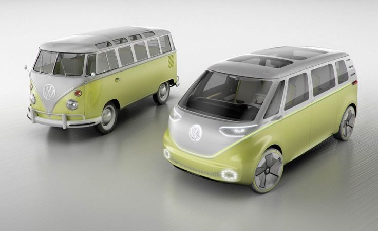 Diesel? Forget It! Check Out the VW I.D. Buzz Electric Microbus! - Photo Gallery of Auto Show News from Car and Driver - Car Images - Car and Driver