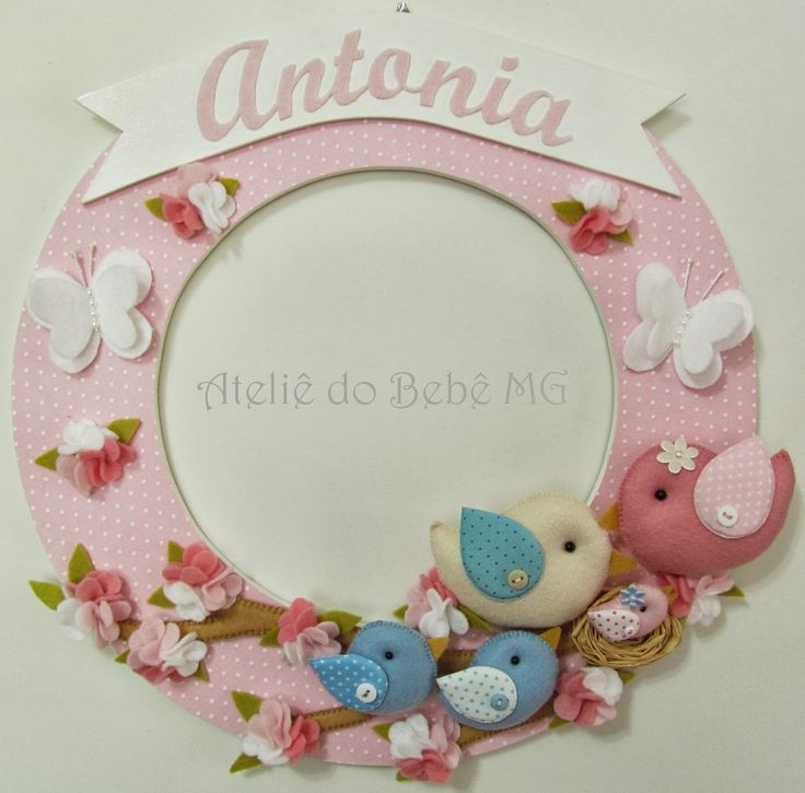 Ateliê+do+Bebê+MG:+Guirlanda+Família+Pássaros+(+Antonia+)