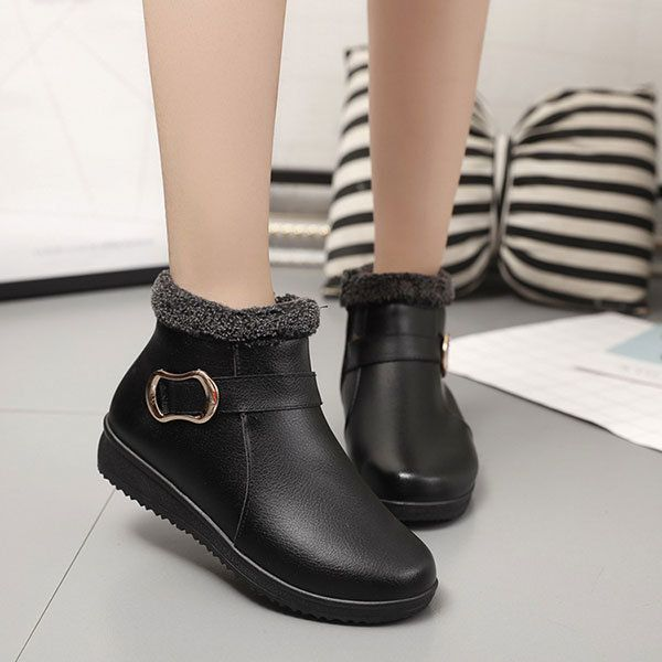 US Size 5-10 Winter Women Fur Lining Keep Warm Outdoor Casual Snow Boots - US$24.99