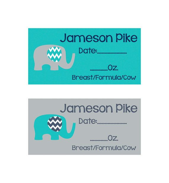 160 Removable Baby Bottle Labels Personalized by Skypiesstickers