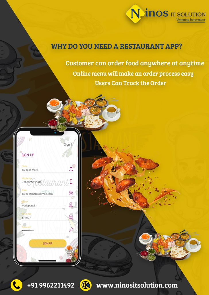 Boost You Restaurant Startup With Mobile App Solution From Ninos