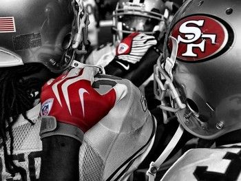 Team Huddle Picture at San Francisco 49ers Photo Store