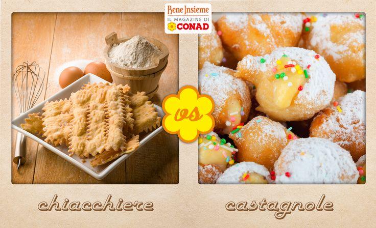 Quali sono i dolci di #carnevale che preferisci? Le Chiacchiere, croccanti e profumate, o le Castagnole, morbide e ripiene di crema?