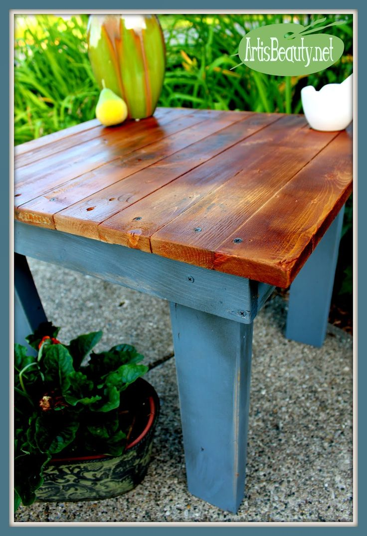 ART IS BEAUTY: How to Build your own Pallet end table with Freezer Paper Graphic Transfer