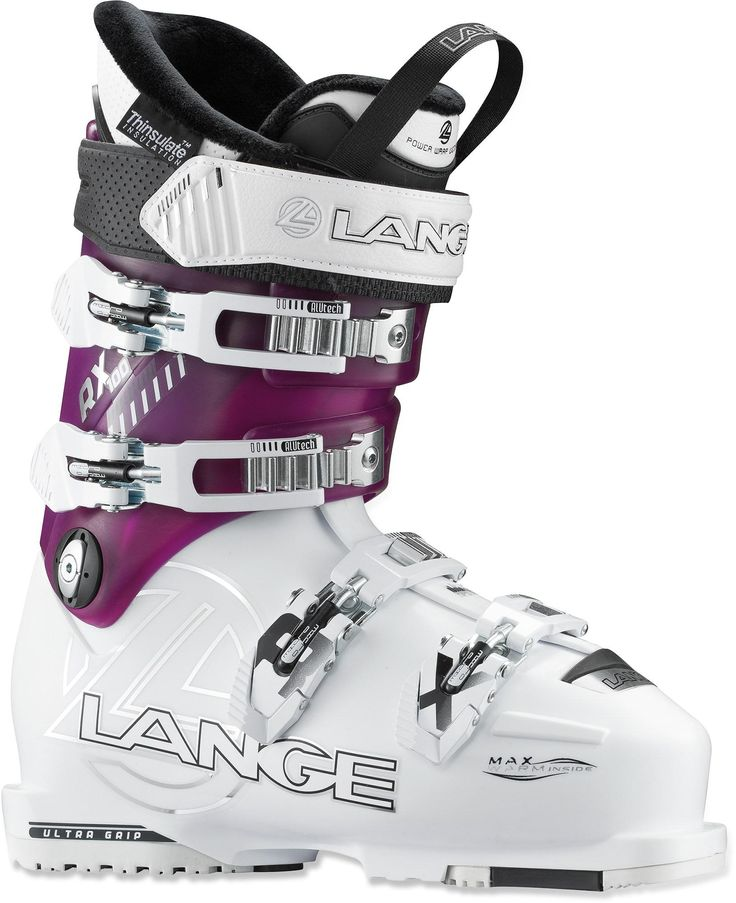 Advanced-level stiffness and a low-volume fit with narrow lasts—Women's Lange Exclusive RX 100 LV Ski Boots - 2013/2014