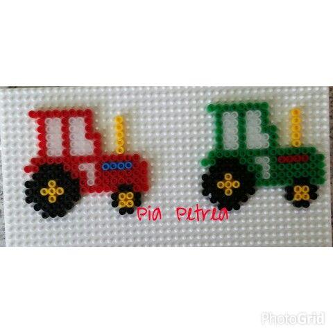 Tractors hama beads by Pia Petrea
