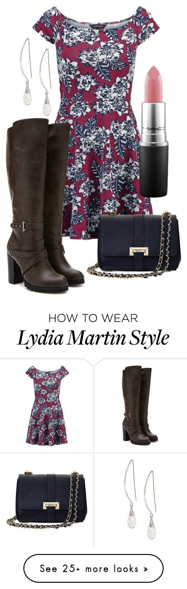 Lydia Martin Inspired Outfit - 5x06 by elainepearl on Polyvore featuring New Look, Forever 21, Aspinal of London, MAC Cosmetics, Lane Bryant, floral, Boots, dress, TeenWolf and LydiaMartin