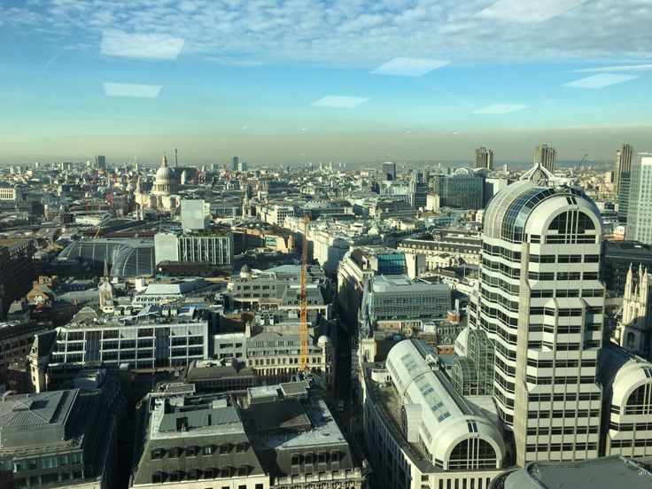 Scenic view of London taken from the 23rd floor of a building by my daughter