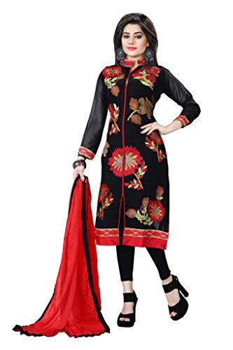 Look gorgeous this season with this stunning Dress Material. With Black colour and Georgette material and Embroidered Work, it will keep you comfortable and fresh.